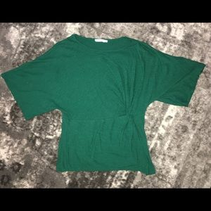 Green ruched casual shirt